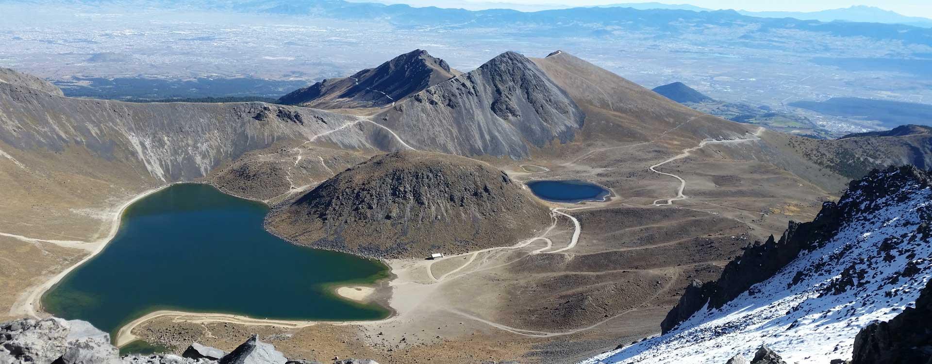 vista aérea del Nevado de Toluca